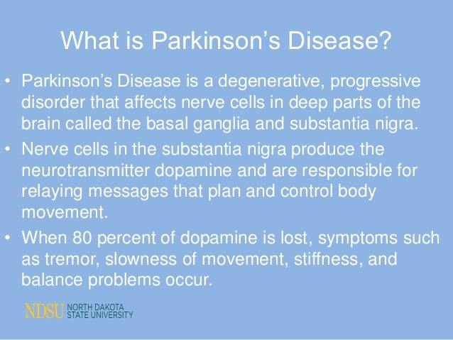 parkinson s disease case study Start studying parkinson's disease case study learn vocabulary, terms, and more with flashcards, games, and other study tools.