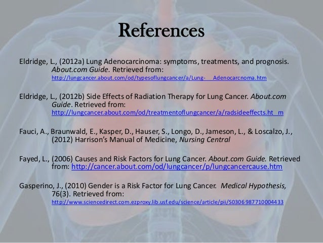 nursing case study lung cancer The lung cancer page contains articles and information from the new england journal of medicine  case 29-2018: a 31-year-old woman with infertility  in a randomized study, addition of the.