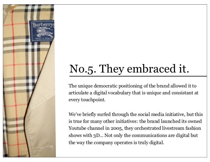 burberry case study Learn digital marketing through this post 'case study on how burberry became a digital luxury brand.