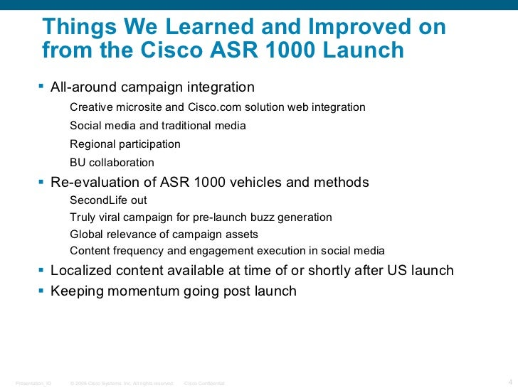 Cisco Systems: Launching the ASR 1000 Series Router Using Social Media Marketing HBS Case Analysis