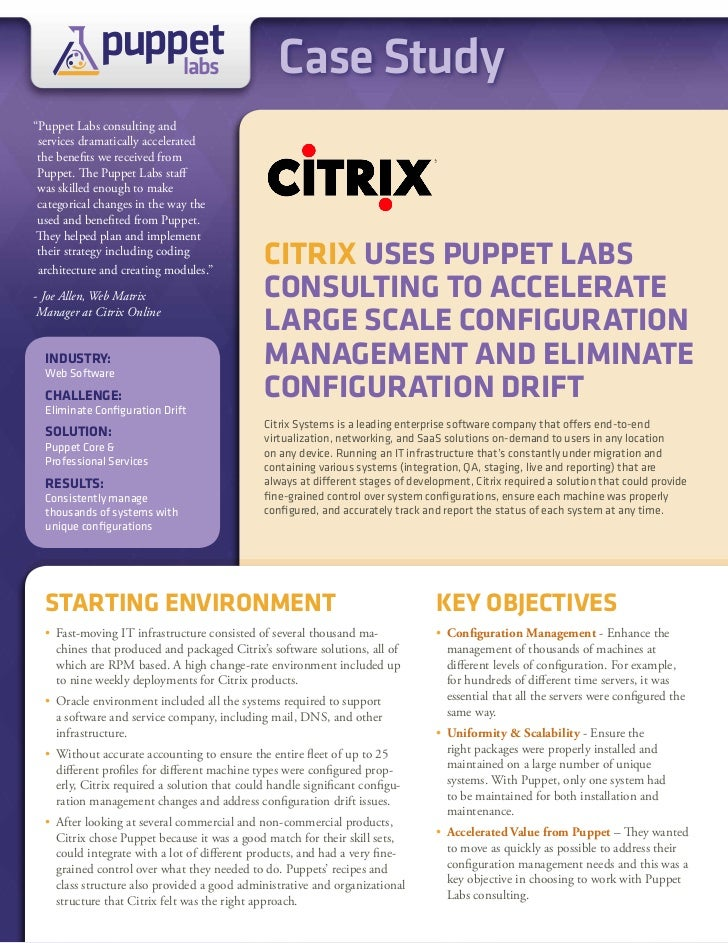 """puppet                 labs                            Case Study""""Puppet Labs consulting and services dramatically acceler..."""