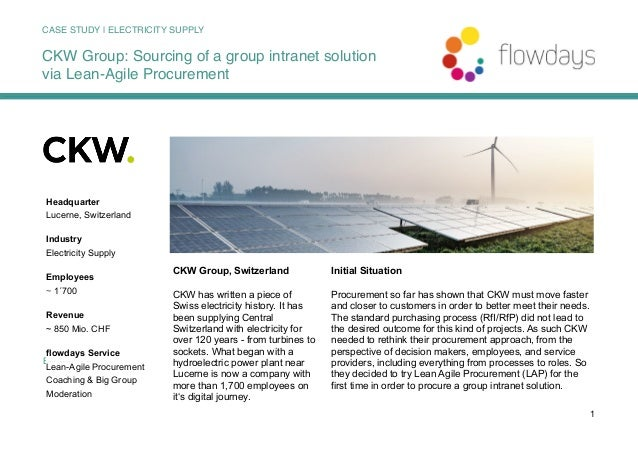 BUSINESS 1 CKW Group, Switzerland CKW has written a piece of Swiss electricity history. It has been supplying Central Swit...