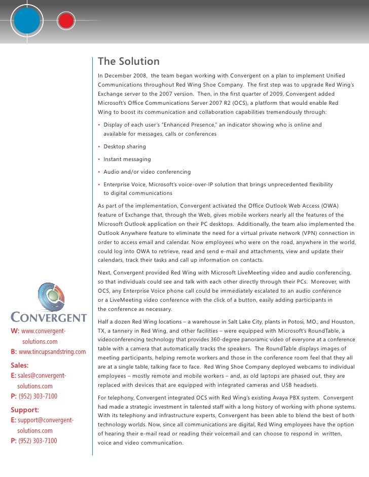 Case study convergentredwings410-final Slide 2