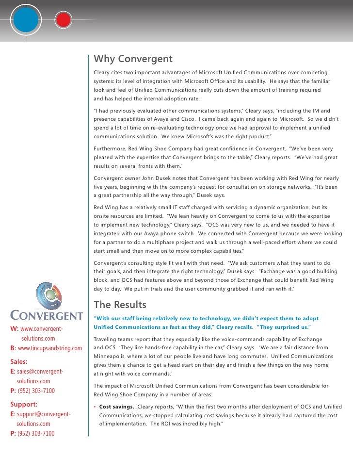 Case study convergentredwings410-final Slide 3