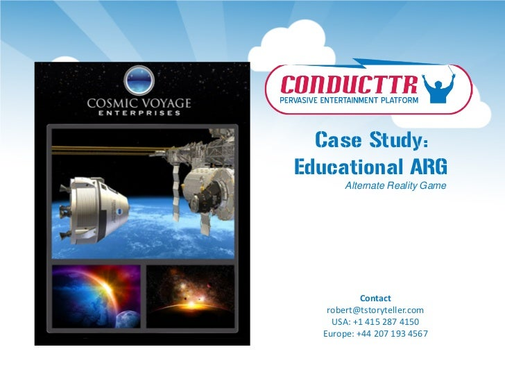 Case Study:Educational ARG      Alternate Reality Game           Contact   robert@tstoryteller.com    USA: +1 415 287 4150...