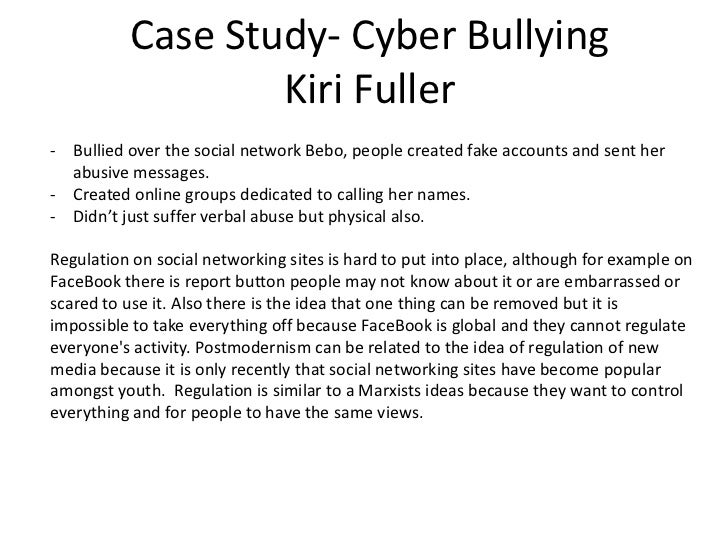 First case of cyberbullying