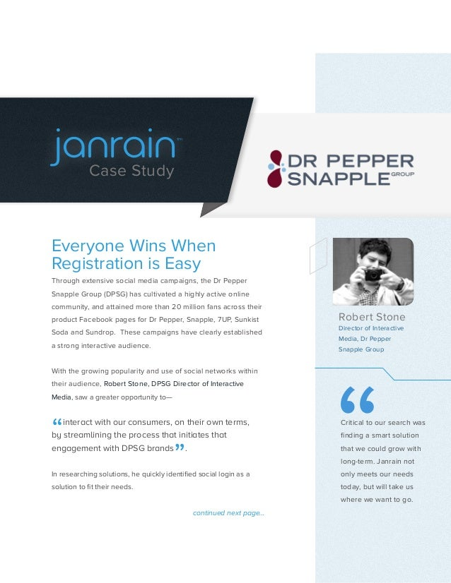 tm            Case StudyEveryone Wins WhenRegistration is EasyThrough extensive social media campaigns, the Dr PepperSnapp...
