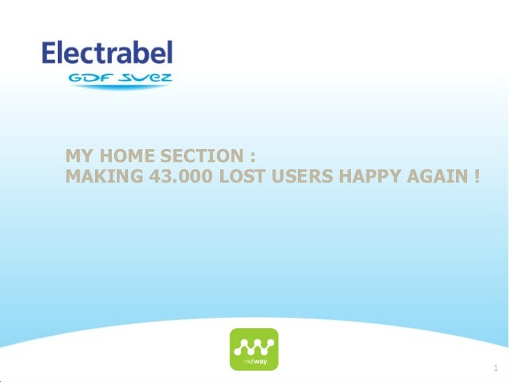 MY HOME SECTION :MAKING 43.000 LOST USERS HAPPY AGAIN !                                         1