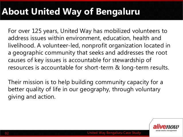 Case study united way and the