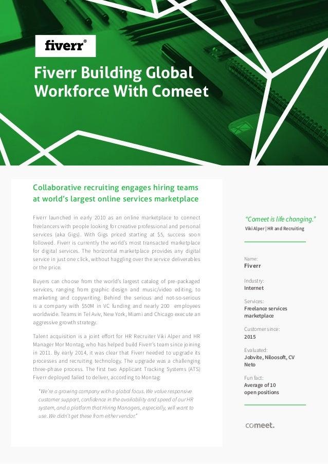 case study fiverr s global talent acquisition success