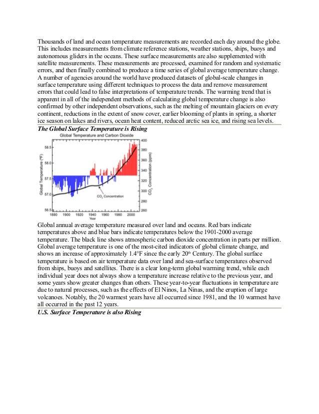 Global Warming case study | Global Warming - Scribd
