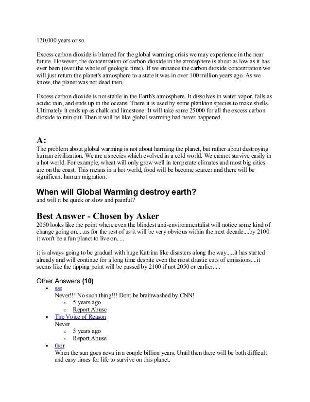 Case study : Global Warming - Portland State University