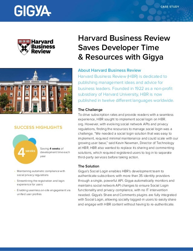 harvard university business case study