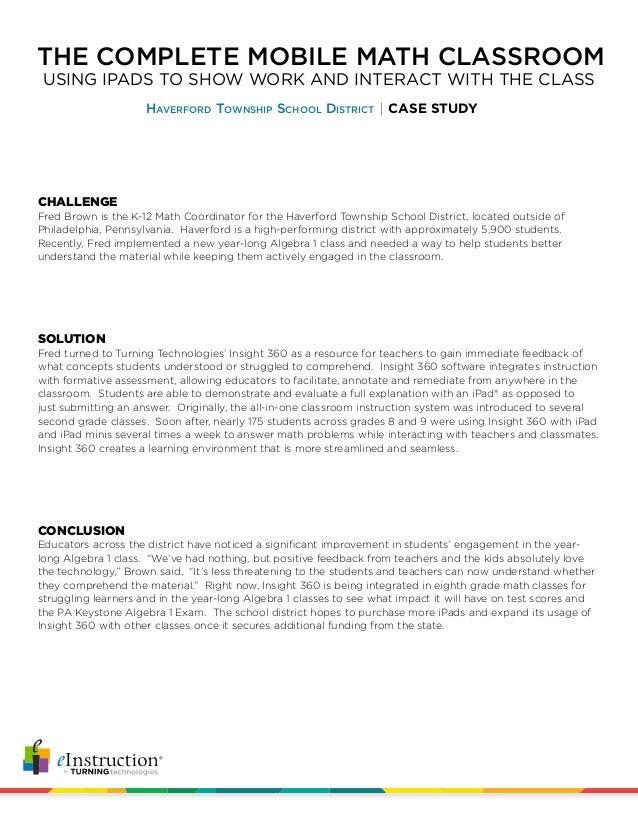 alg case study Case benchmark assessments, developed by te21, inc, provides grade level benchmark assessments for grades kindergarten through high school aligned to state standards.