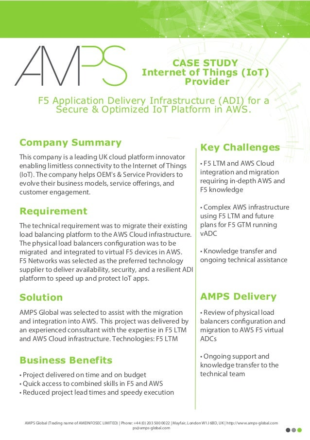 Key Challenges • F5 LTM and AWS Cloud integration and migration requiring in-depth AWS and F5 knowledge • Complex AWS infr...