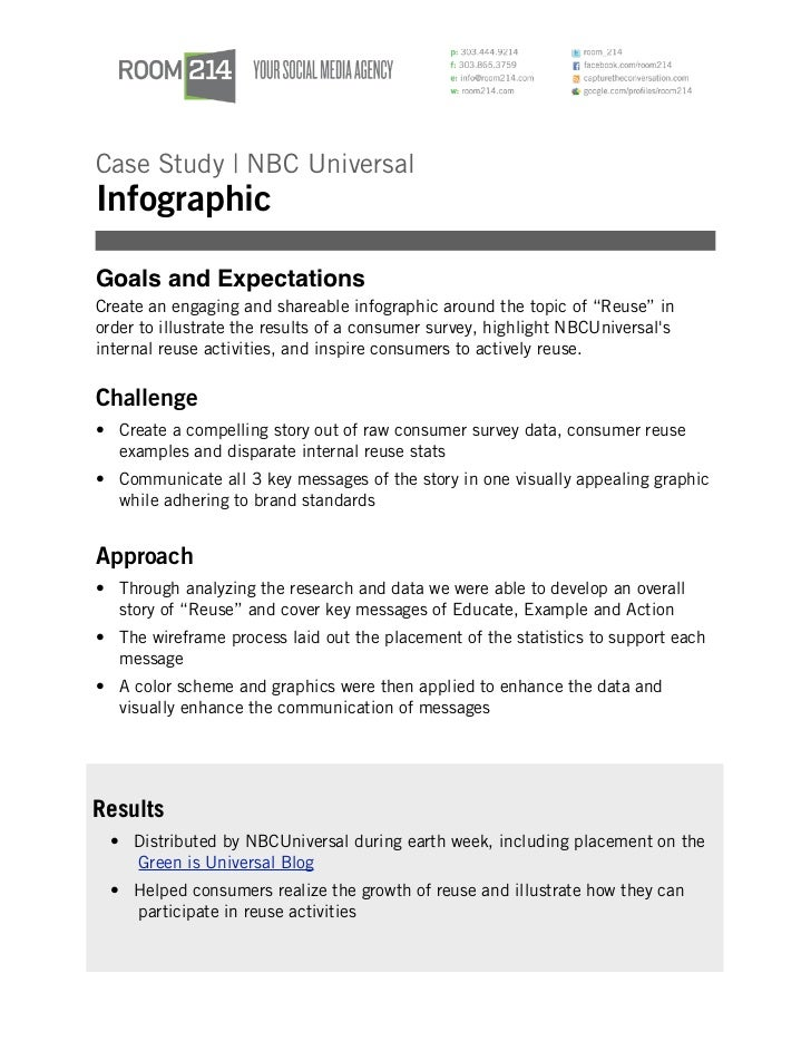 Case Study | NBC UniversalInfographicGoals and ExpectationsCreate an engaging and shareable infographic around the topic o...