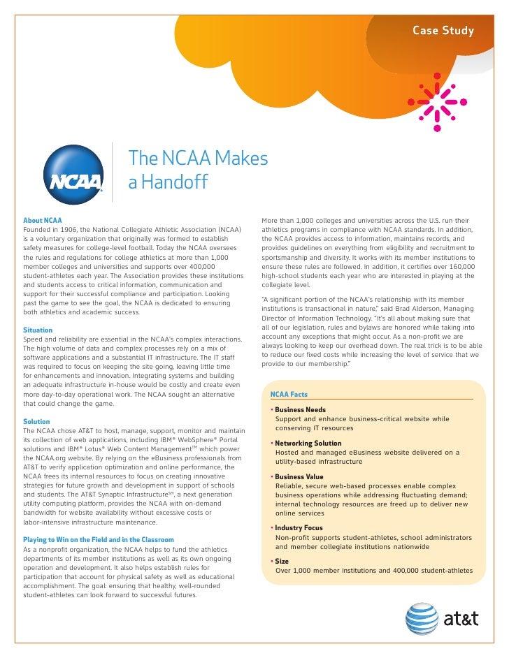 NCAA Case Study