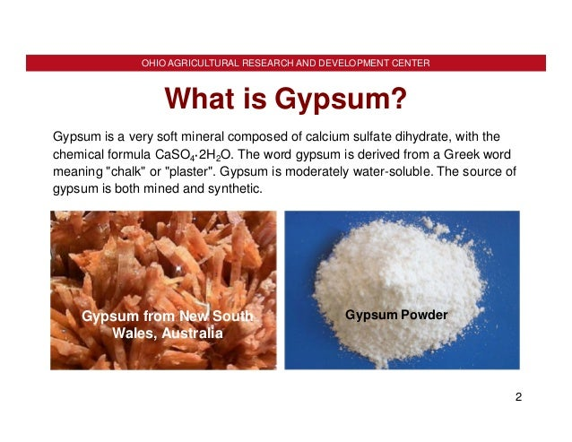Dick gypsum as a soil amendment for What is the origin of soil