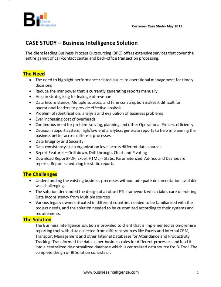Customer Case Study‐ May 2011                                                   ...