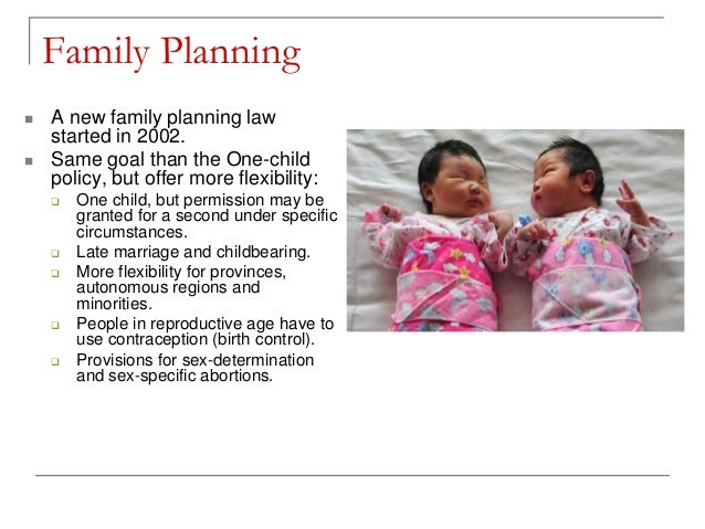 Case study china 39 s one child policy for Family planning com