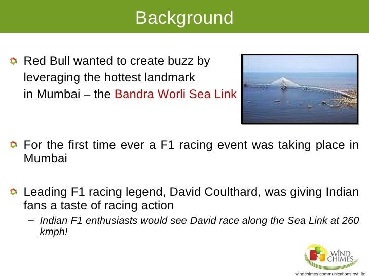 market research on red bull india It terms of higher profile marketing, red bull has primarily focused on  red bull  reported that it had boosted net sales in the indian market by a.