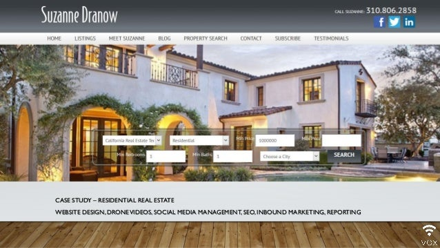 CASE STUDY – RESIDENTIAL REAL ESTATE WEBSITE DESIGN,DRONEVIDEOS, SOCIAL MEDIA MANAGEMENT, SEO, INBOUND MARKETING, REPORTING
