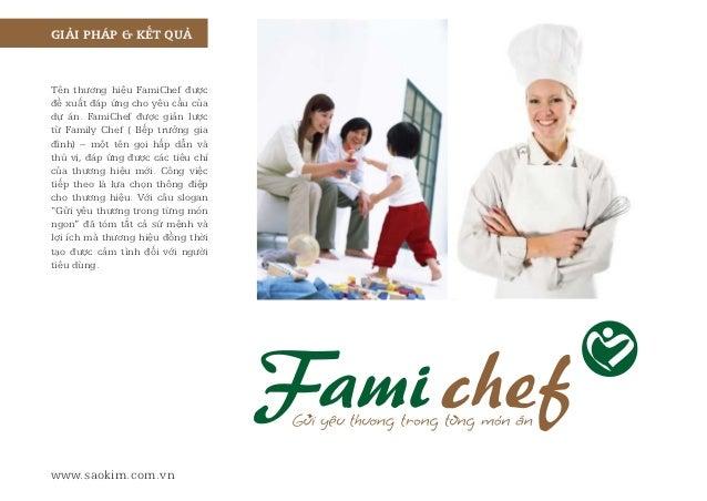 Case Study  - Thiết kế thương hiệu thực phẩm sơ chế FamiChef  Slide 3