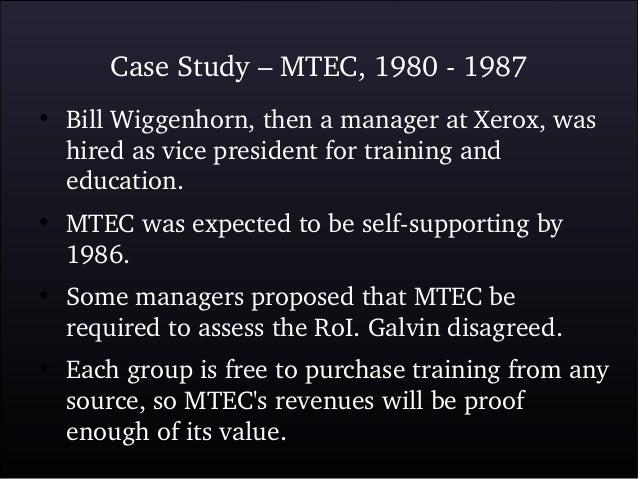 case study on training
