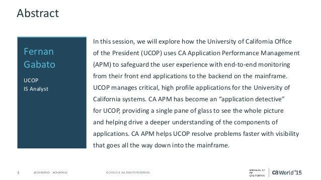 ca application monitoring