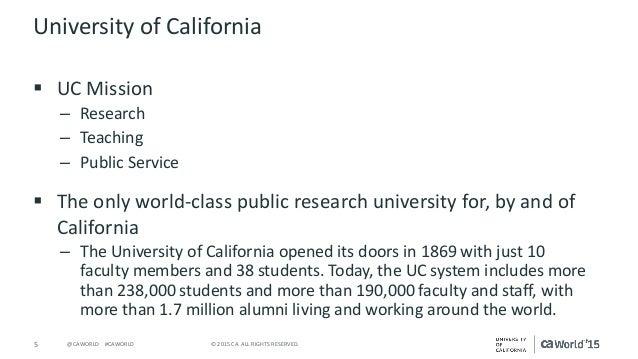 Case Study: University of California Office of the President Studies …