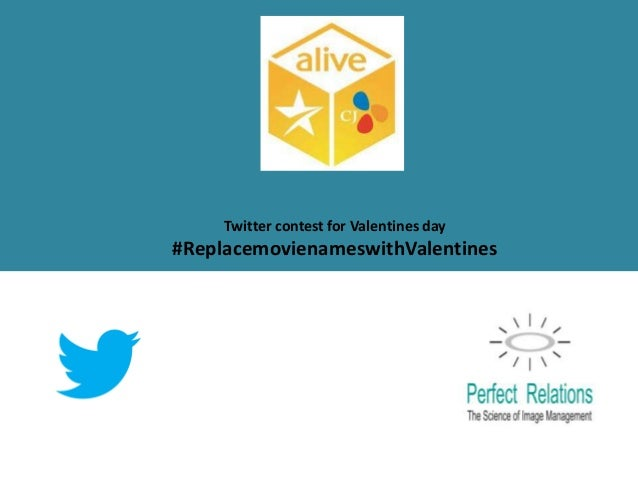 Twitter contest for Valentines day#ReplacemovienameswithValentines