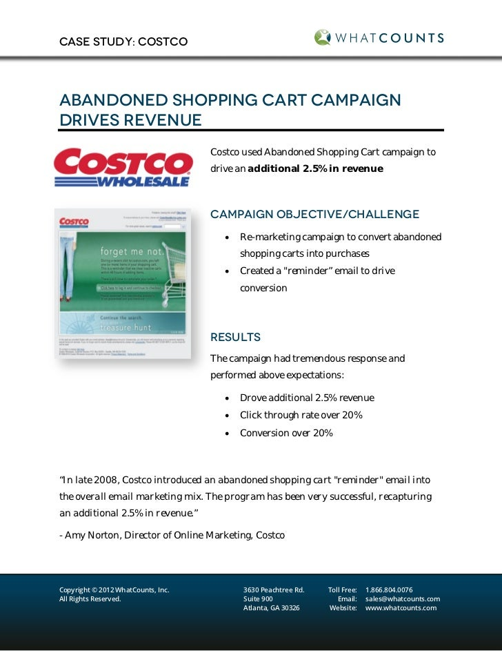 abandoned shopping cart campaign drives revenue