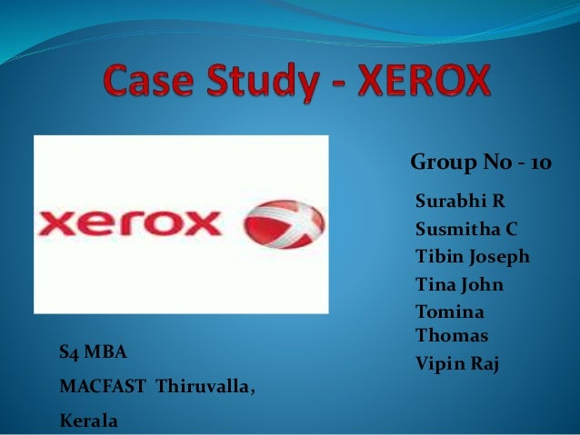 xerox case study summary