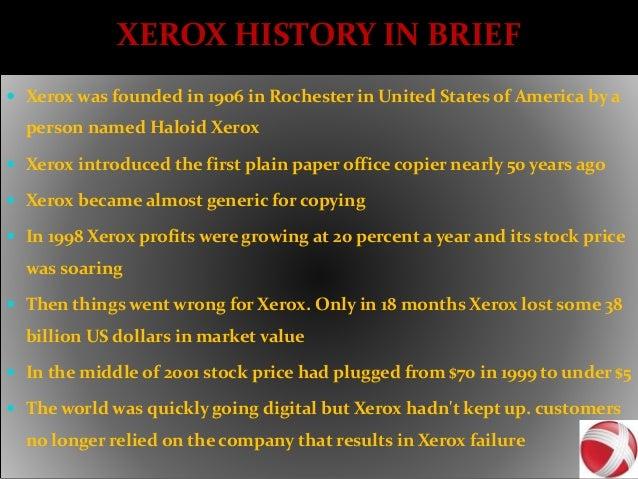 Case study xerox