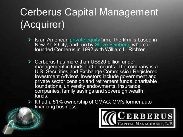 Case Study 13-4 Cerberus Capital Management Acquires