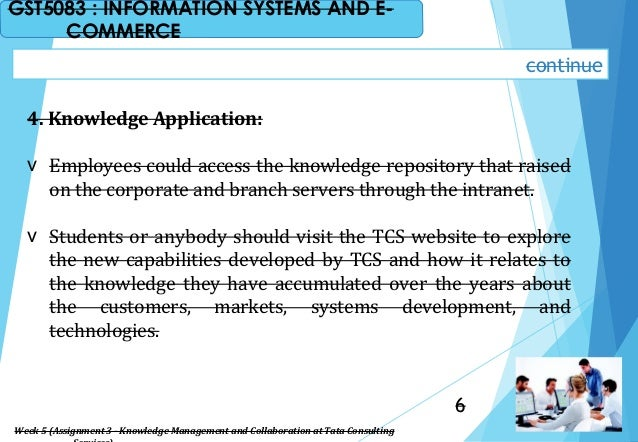 4. Knowledge Application: v Employees could access the knowledge repository that raised on the corporate and branch server...
