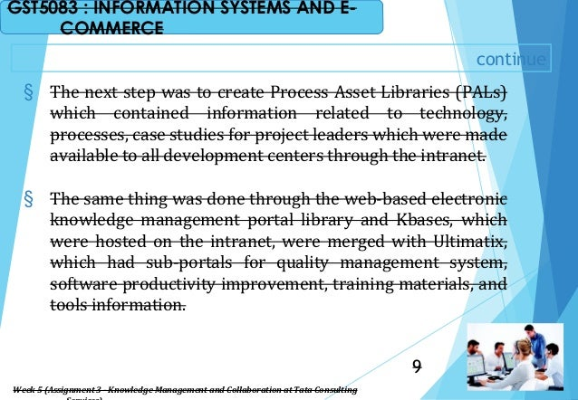 continue § The next step was to create Process Asset Libraries (PALs) which contained information related to technology, p...