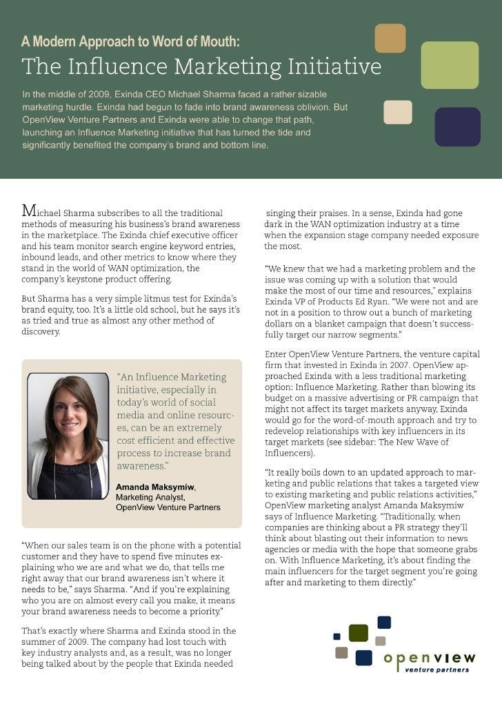 Case Study: The Influence Marketing Initiative