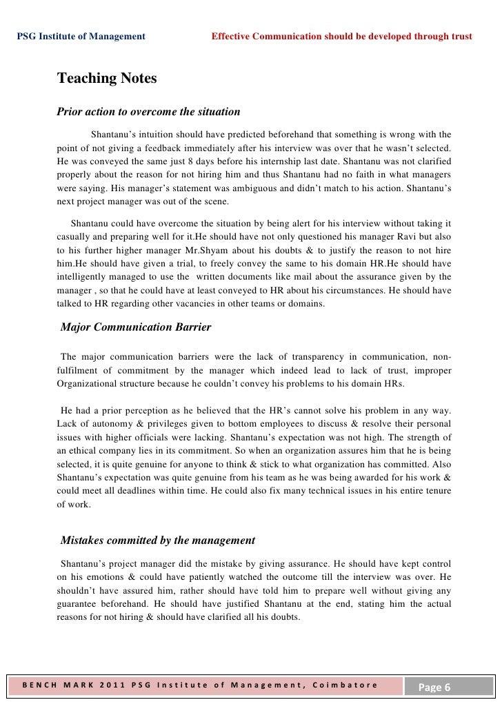 Case study barriers to communication uva engineering essay help
