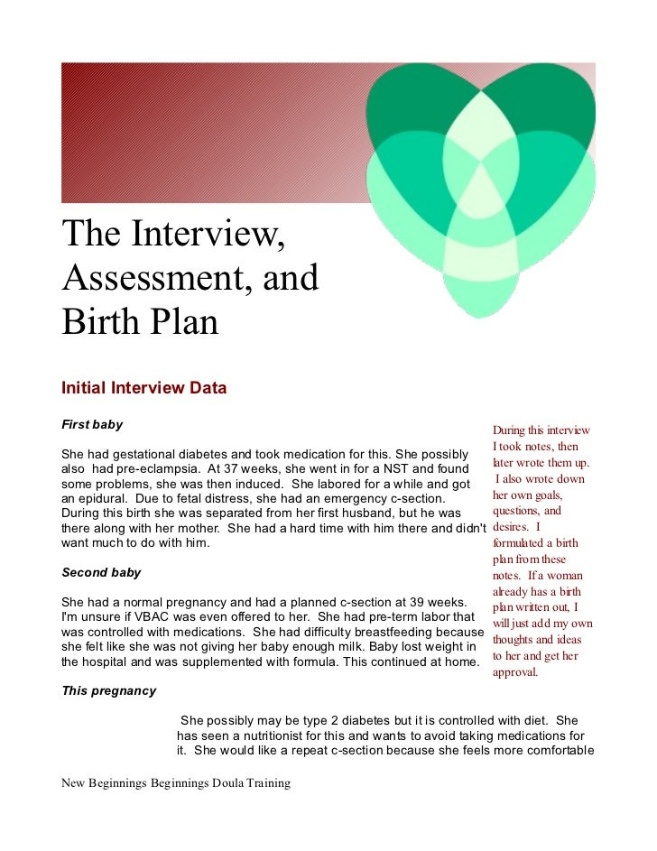Care Plan For New Mother Who Had C Section