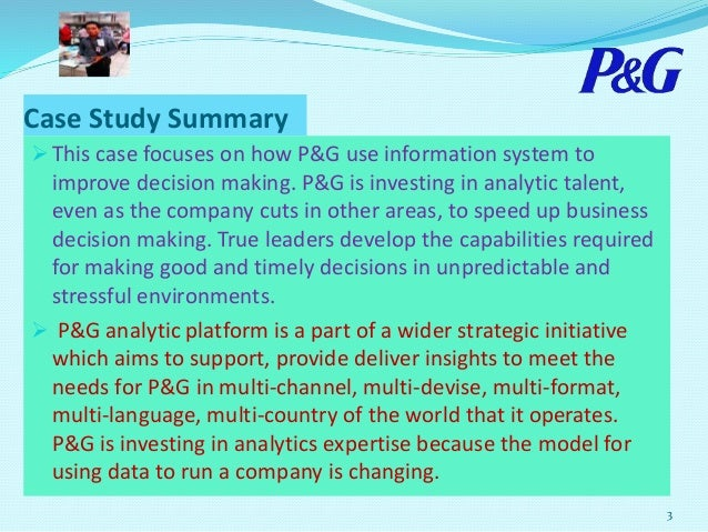 procter and gamble case study Mindjet case study procter & gamble | 2 dr jungnickel project and ip manager, oral-b mindmanager is the ideal software when it comes to integrating creativity and project management into a single.