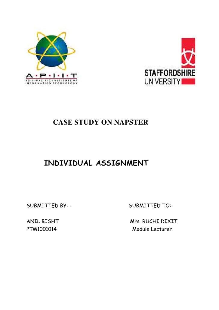 -15049546990                     <br />2077720140970<br />   <br />    <br />CASE STUDY ON NAPSTER<br />                  ...