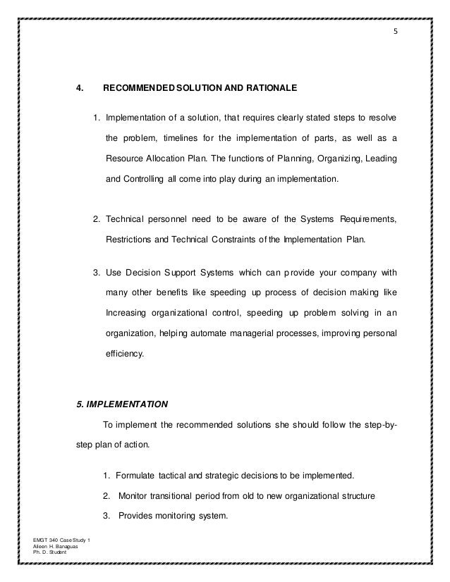 planning organizing leading and controlling case study pdf