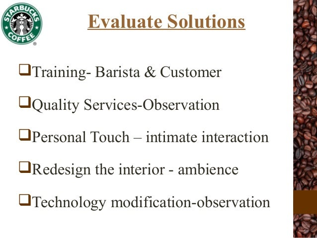 starbucks organizational behavior anlysis essay Organizational behaviour deals the study of personality of individuals or  this  paper will involve solving organization problem that faced starbucks coffee.