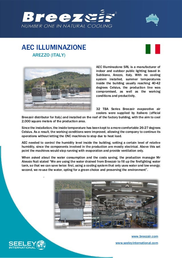 AEC Illuminazione opts for Breezair and Cost Saving