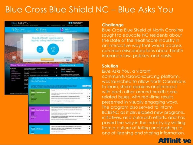 ChallengeBlue Cross Blue Shield of North Carolinasought to educate NC residents aboutthe state of the healthcare industry ...