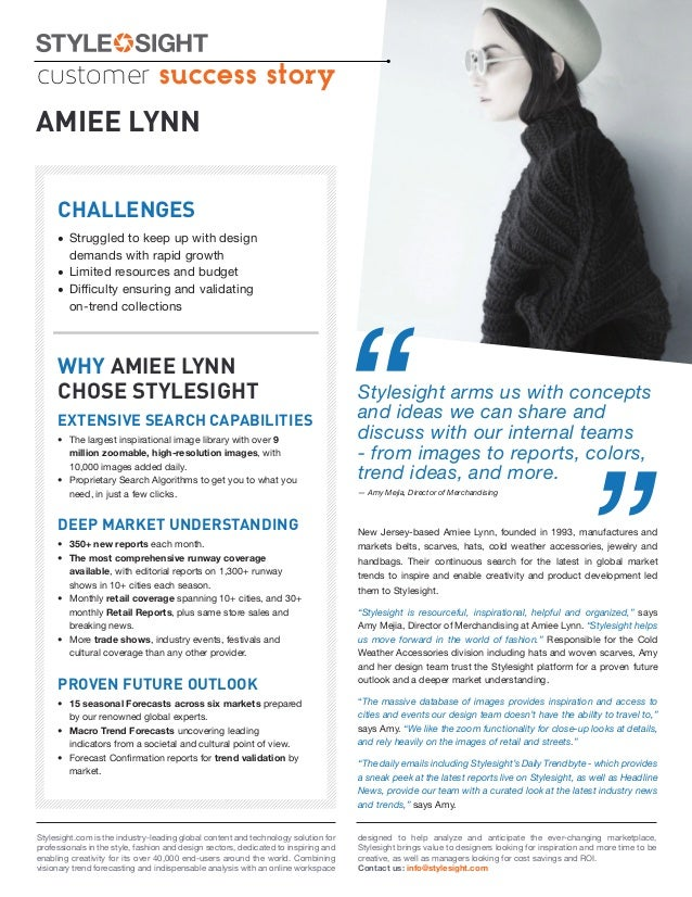 customer success storyAMIEE LYNN     CHALLENGES     • Struggled to keep up with design       demands with rapid growth    ...