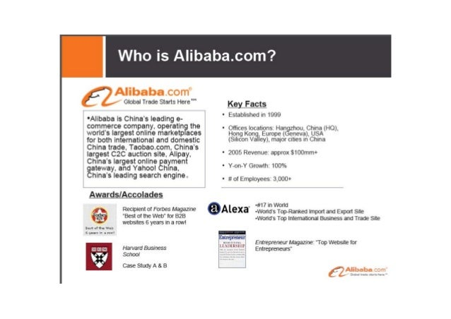 The business model of Alibaba is very simple.  It is to help sellers meet buyers. More specifically, it provides  an Inter...