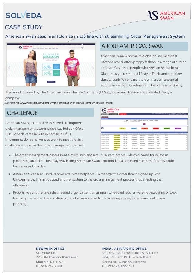 Case study American Swan