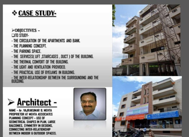 Architectural Case Study Of Apartments